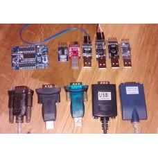 Выбираем USB COM адаптер