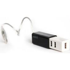 Мини хаб USB 2.0 на 4 порта KS-is Slim (черный) (KS-021B)