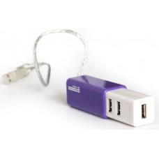 Мини хаб USB 2.0 на 4 порта KS-is Slim (сиреневый) (KS-021PU)