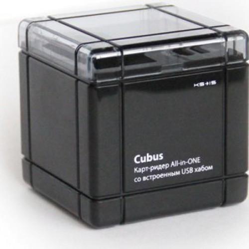 Картридер с хабом USB 2.0 на 2 порта KS-is Cubus (KS-038)