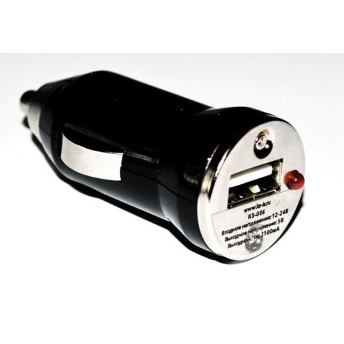 Зарядное устройство USB от прикуривателя авто KS-is Cachey (KS-086)