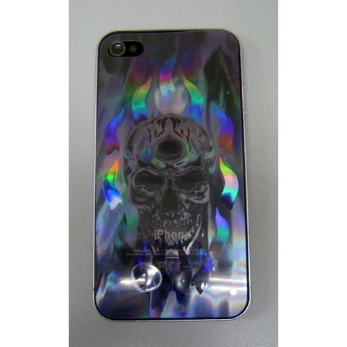 Защитная пленка KS-is с лазерной гравировкой для iPhone 4/4s (skull devil) (KS-101C)