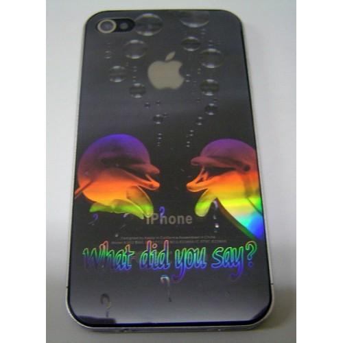 Защитная пленка KS-is с лазерной гравировкой для iPhone 4/4s (what did you say) (KS-101E)