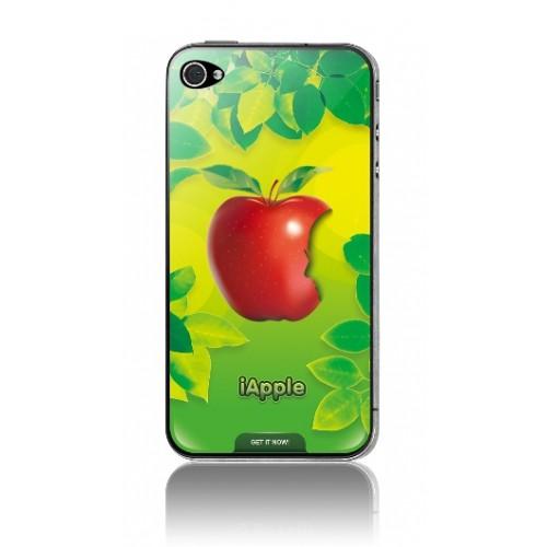 Защитная пленка KS-is (KS-138AP) с 3D рисунком Apple для iPhone 4/4s