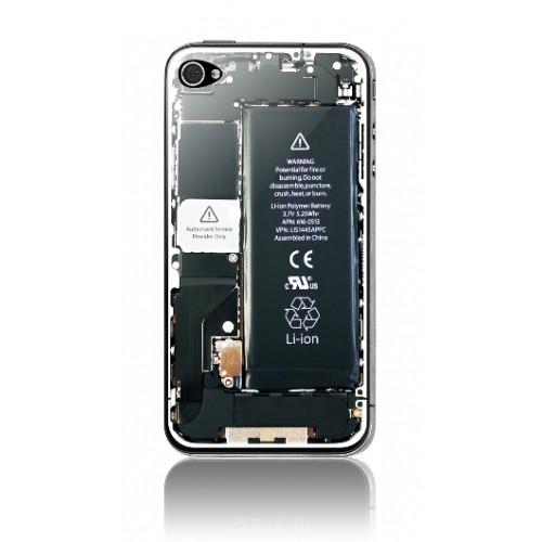 Защитная пленка KS-is (KS-138BC) с 3D рисунком Battery cover для iPhone 4/4s