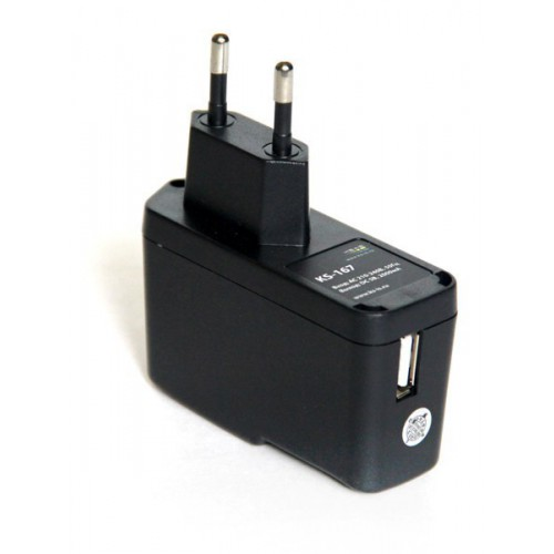 Зарядное устройство USB с кабелями microUSB и Apple 30pin от электрической сети KS-is Qich (KS-167)