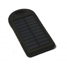 Универсальная батарея KS-is (KS-202Black) 5000мАч со встроен. солнечной батареей для порт. техники