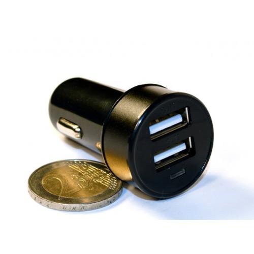Зар ус-во USB 2 порта для циф техн 2.1A/1A от прик авто 12В KS-is Joox (KS-212Black) черная