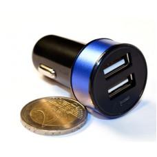 Зар ус-во USB 2 порта для циф техн 2.1A/1A от прик авто 12В KS-is Joox (KS-212Blue) черно-голубая