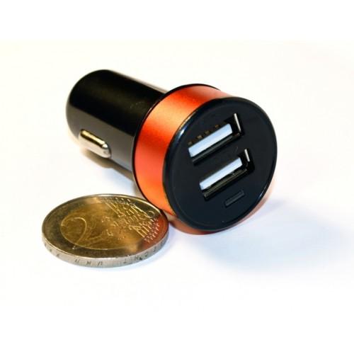 Зар ус-во USB 2 порта для циф техн 2.1A/1A от прик авто 12В KS-is Joox (KS-212Red) черно-красная