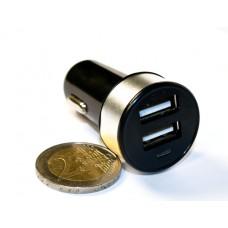 Зар ус-во USB 2 порта для циф техн 2.1A/1A от прик авто 12В KS-is Joox (KS-212Silver) черно-серая