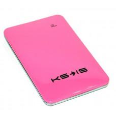 Универсальная батарея KS-is  Power10000 (KS-215Pink) для порт цифр техн, литий-полимер, розовая