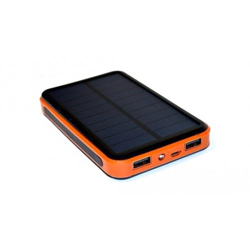 Универсальная батарея KS-is (KS-216Black) 10000мАч со встроенной солнечной батареей для порт цифр тех-ки, черная
