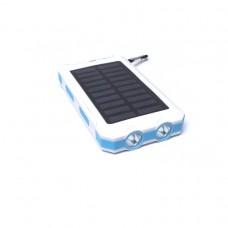 Универсальная батарея KS-is Lisu (KS-225White) 13800мАч со встроенной солнечной панелью, белая