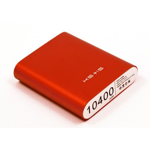 Универсальная батарея KS-is (KS-239Red) 10400мАч, красная