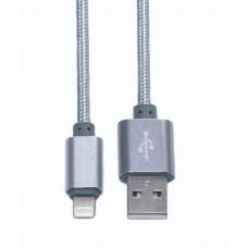 Кабель USB-Lightning KS-is (KS-283S1) 1м сер