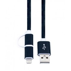 KS-285B	Кабель 2 в 1 USB-Lightning/microUSB KS-is (KS-285B) 1м чер