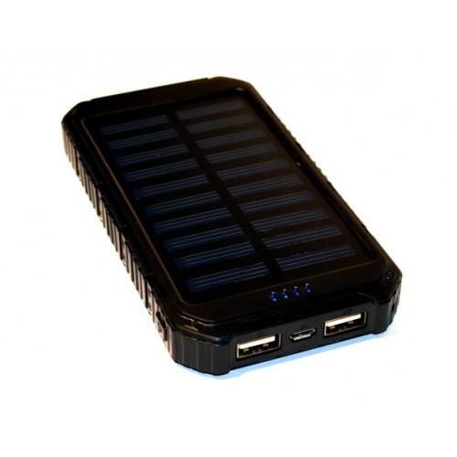 Универсальная батарея KS-is (KS-299Black) 10000мАч  со встроенной солнечной панелью, черная