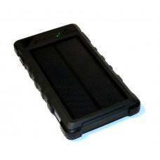 Универсальная батарея KS-is (KS-300Black) 10000мАч со встроенной солнечной панелью, черная