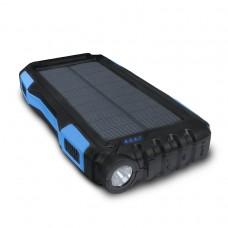Внешний аккумулятор power bank со встроенной солнечной панелью KS-is (KS-303BB) 20000мАч, черно-голубой