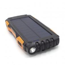Внешний аккумулятор power bank со встроенной солнечной панелью KS-is (KS-303BO) 20000мАч, черно-оранжевый