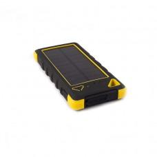 Внешний аккумулятор power bank со встроенной солнечной панелью KS-is (KS-303BY) 20000мАч, черно-желтый
