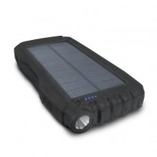 Внешний аккумулятор power bank со встроенной солнечной панелью KS-is (KS-303B) 20000мАч, черный