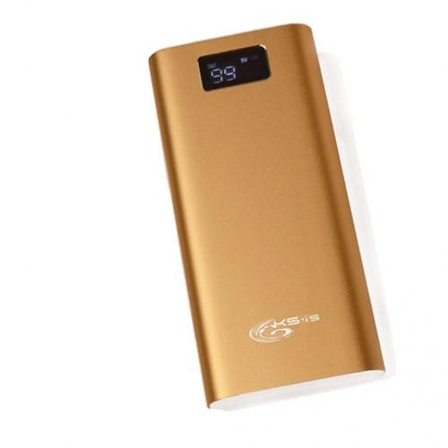 Внешний аккумулятор power bank KS-is (KS-316Gold) 30000мАч, золото
