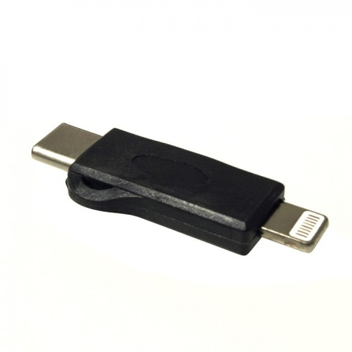 Адаптер micro USB в USB-C Lightning KS-is (KS-318)