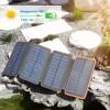 Внешний аккумулятор power bank со встроенной солнечной панелью KS-is Solezz (KS-332Orange) 10000мАч