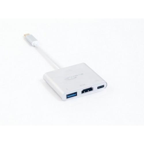 Адаптер USB Type C M в USB/HDMI/USB Type C F KS-is (KS-342)