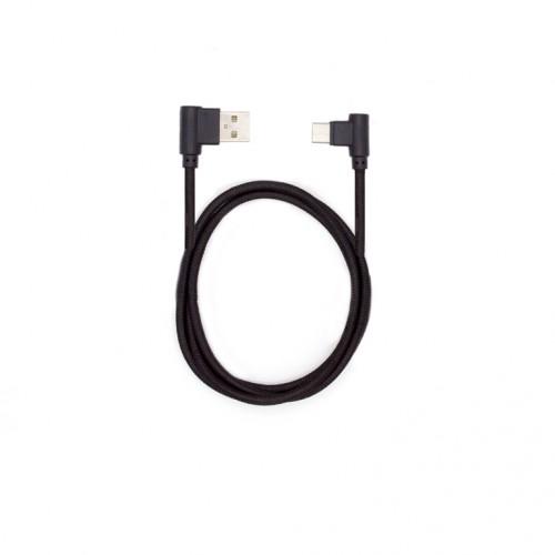 Кабель USB-USB Type C угловой KS-is (KS-357B) 1м