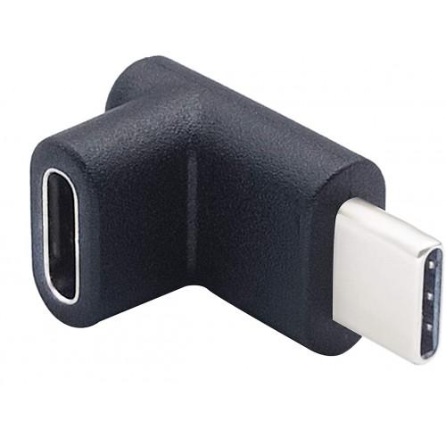 Адаптер USB-C M F угловой KS-is (KS-394)