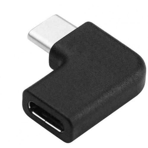 Адаптер USB-C M F угловой KS-is (KS-395)