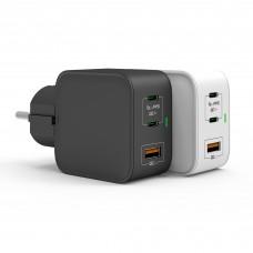 Зарядное устройство USB GaN от электрической сети KS-is (KS-432) 65Вт
