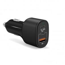 Зарядное устройство USB QC4.0+ от прикуривателя авто KS-is (KS-438)