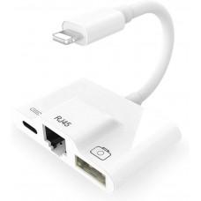 Адаптер Lightning USB 3 в 1 KS-is (KS-442)