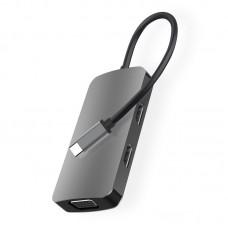 Док станция USB-C 5 в 1 KS-is (KS-476)