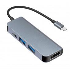 Док станция USB-C 4 в 1 KS-is (KS-505)