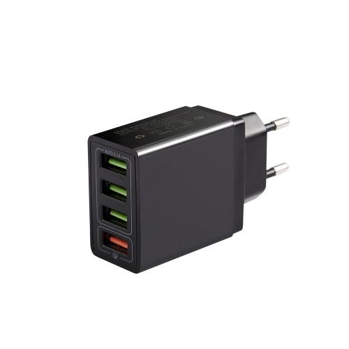 Зарядное устройство USB 3.1A x 3   QC3.0 x 1 от электрической сети KS-is (KS-603)