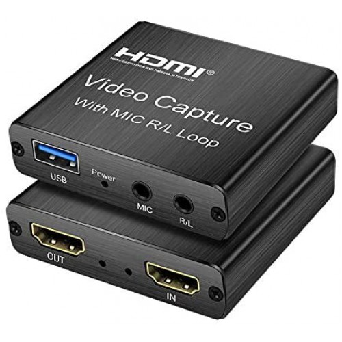 Адаптер видеозахвата HDMI USB loop mic KS-is (KS-515)